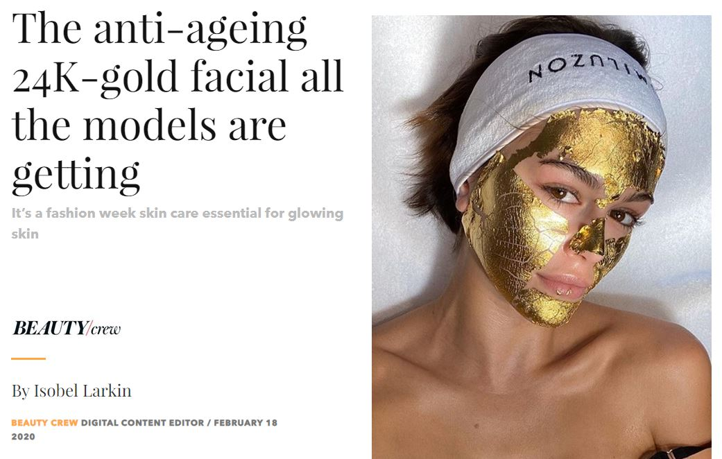 The anti-ageing 24K-gold facial all the models are getting