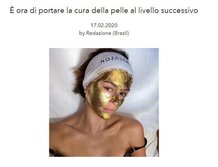 Bella Hadid e Kaia Geber indossano una maschera d'oro 24k per prepararsi alle Fashion Week