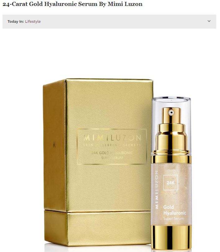 24-Carat Gold Hyaluronic Serum By Mimi Luzon